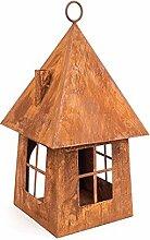VOGELHAUS Haus Windlicht H40cm Futterhaus Zum