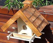 vogelhaus,mit Futterspender,K-BEL-VOWA3-dbraun001