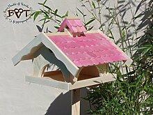 Vogelhaus mit Nistkasten BTV-VONI5-pink002 Großes