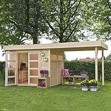 Vogelhaus mit Pergola Holz VERMONT 603x 245cm