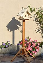 Vogelhaus mit Ständer BTV-VOWA3-MS-natur002