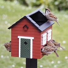 Vogelhaus mit Tränke und Bad für Ihre
