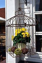 Vogelkäfig Käfig braun Deko Landhaus antik Nostalgie shabby ca. 59cm Höhe