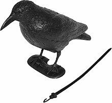 Vogelschreck schwarz 38cm Rabe Erdspieß Vogelabwehr Taubenschreck Vogelscheuche