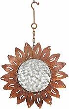 Vogelstation Sonnenblume Edelrost Vogelhaus aus