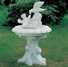 Vogeltränke Gartendeko Gartenskulptur aus Betonwerkstein Gartenfigur Steinfiguren Garten-Statue Dekofigur