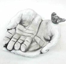 Vogeltränke Hände I Gartendeko I 28 x 28 cm groß I Balkondeko I Terassendeko