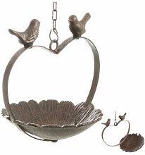 Vogeltränke hängend Herz Gusseisen Vogelbad zum