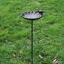 Vogeltränke mit Zaunkönig a. Stab - 20x17,5xH123cm - braun (707)