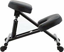 vogvigo PU Leder Kniestuhl, ergonomisch entworfen Knie Stuhl mit doppelte Dicke Polsterung Office Ergonomische Haltung Leder schwarz, verstellbar, Körperhaltung verbesser