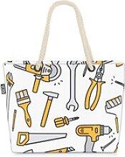 VOID Strandtasche (1-tlg), Werkzeug Grafik Muster