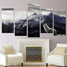 Voiks 5 Stück Wandkunst Malerei Leinwanddruck