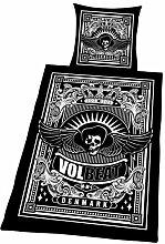 Volbeat Skullwing Bettwäsche schwarz/weiß