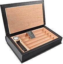 Volenx Zigarren Humidor aus Leder und Zedernholz für Reise - 5 Zigarren
