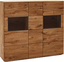 Voleo HIGHBOARD Eiche massiv gebürstet , Holz,