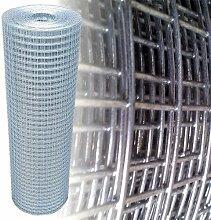 Volierendraht Silber Maschendraht 25x25mm 4-Eck Verzinkt Gartenzaun Drahtzaun (100cm x 25m, 1,45mm dick)
