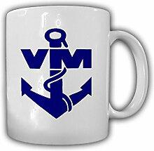 Volksmarine VM NVA DDR Nationale Volksarmee Seestreitkräfte Marine Lgo Abzeichen - Tasse Kaffee Becher #13138