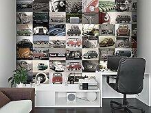 Volkswagen Collage Foto-Tapete 64-teilig