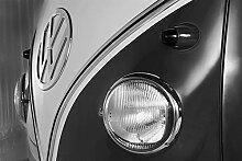Volkswagen Van Logo Black&White Foto-Tapete 4-teilig 232x315 cm