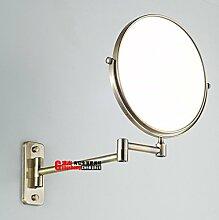 Voll europäische antike Kupfer Badezimmerspiegel/Spiegel/Teleskopkosmetikspiegel/Retro Klappspiegel