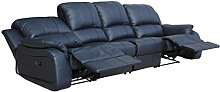 Voll-Leder Couch Sofa-Garnitur-Relaxsessel