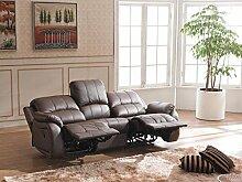 Voll-Leder Couch Sofa Garnitur Relaxsessel Fernsehsessel 5129-3-377 sofor