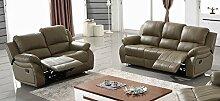 Voll-Leder Fernsehsofas Relaxsofas Ledergarnitur 5129-3+2-1106