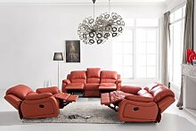Voll-Leder-Relax Fernsehsofas-Polstermöbel-Sessel