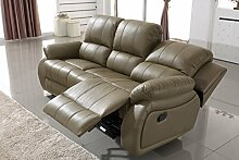 Voll-Leder Schlafcouch Schlafsofa Relaxsofa