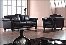 Voll-Leder-Sofa-Garnitur Kolonial-Stil Polstermöbel-Sessel Kolonialstil 278-3+1-S