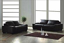 Voll-Leder-Sofa-Garnitur-Polstermöbel-Sessel 5010-3+2-S