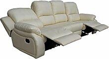 Voll-Leder Sofa Garnitur Relaxsessel Polstermöbel