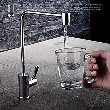 Voll reines Kupfer einziges kaltes Gemüse Bassinhahn Küchenspüle Wasserfilter Trinkwasser angehoben, Wasserreinigungsabschni