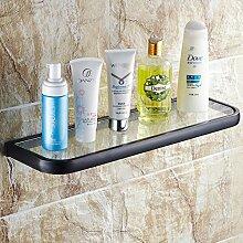 Voll schwarz Bronze Kupfer European Cosmetic Bench/Badezimmer Regal/Retro Glascontainerbrücke/Regale-1