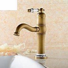 Voll von Kupfer antiken Bassinhahn /Continental retro/Badezimmer-Schrank Wasserhahn/Blaue und weiße Porzellan/Waschbecken Wasserhahn