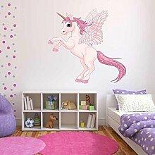 volle Farbe Einhorn Flügel Pegasus Aufkleber Mädchen Kinder schlafzimmer-dekoration - L