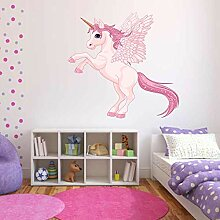 Volle Farbe Einhorn Flügel Pegasus Aufkleber