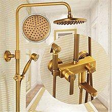 Volle Kupfer, antik Dusche Wasserhahn,