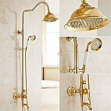 Volle Kupfer aureate Dusche dusche Klage zu Wand