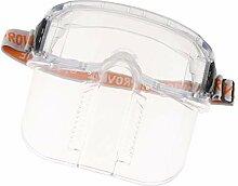 Vollgesichts Sicherheits klare Masken Visier Glas