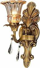Vollkupfer Kristall Wandlampe Retro Luxus Kunst