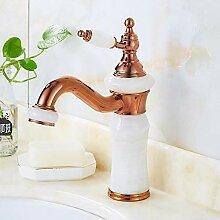 Vollkupfergold Waschbecken Wasserhahn heißen und
