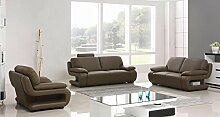 Vollledersofas Ledersofas Ledersofagarnitur Couch Relaxsofas Schlafsofas 5172-3+2+1-1106