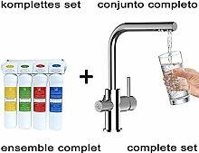 Vollständiges Wasserfilter system + 3 Wege