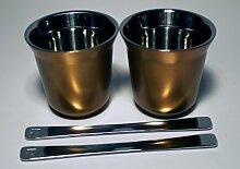 Volluto Espresso Nespresso Pixie Lungo Metall Becher Tasse (gold)
