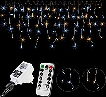 VOLTRONIC® 200 400 600 LED Eisregen Lichterkette