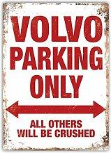 Volvo Parking–Metall-Wandschild mit