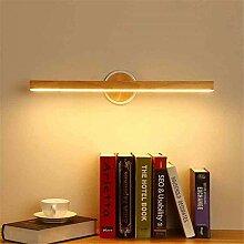 VOMI Modern Holz Spiegelleuchte LED Badlampe, 12W