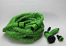 Von buttacup 100FT Gartenschlauch Erweiterbar Schlauch Rohr | Leichtes erweiterbar Schlauch | Latex Triple Layer | Sprüher | 7Einstellung Expanding Gartenschlauch | Magic Schlauch dehnt sich bis zu 30m