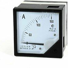 Von Hand schwarz Analog Current Panel Meter